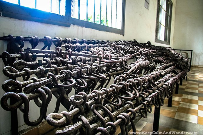 Tuol Sleng Genocide Museum in Cambodia.