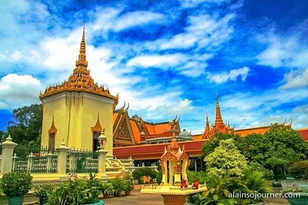 Grand Royal Palace in Phnom Penh, Cambodia. 14