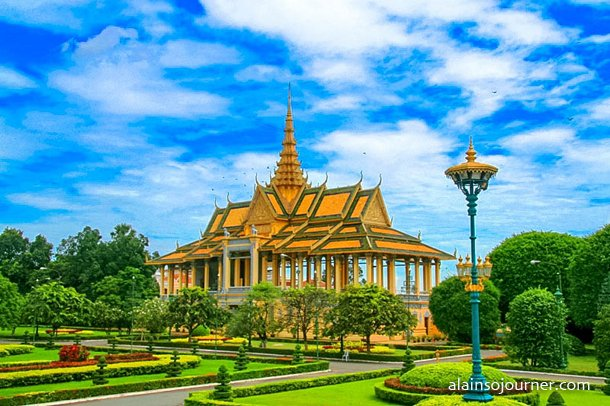 Grand Royal Palace in Phnom Penh, Cambodia.
