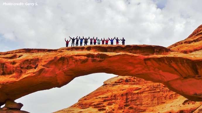 Wadi Rum Arch Jordan
