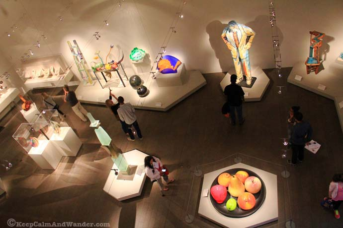Inside De Young Museum in San Francisco.