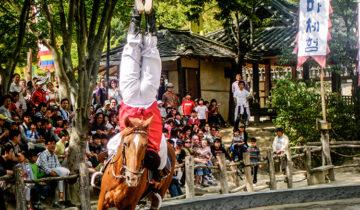 Equestrian Show at Suwon Folk Village, Seoul, South Korea.