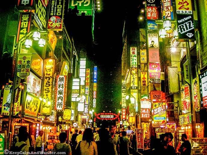 The Neons Lights of Kabukicho in Shinjuku, Tokyo, Japan.