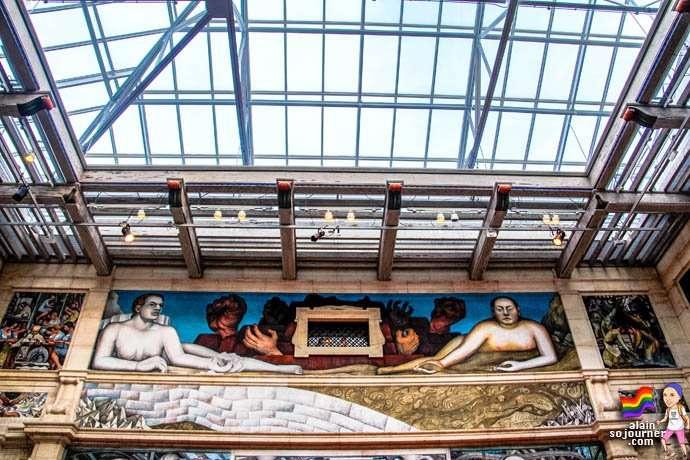 Diego Rivera Court Mural Detroit Institute of Arts DIA