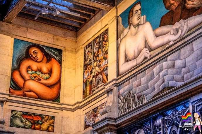Diego Rivera Court Mural Detroit Institute of Arts DIA 17