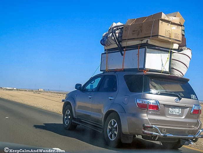 This family car is turned into a cargo car / transport.