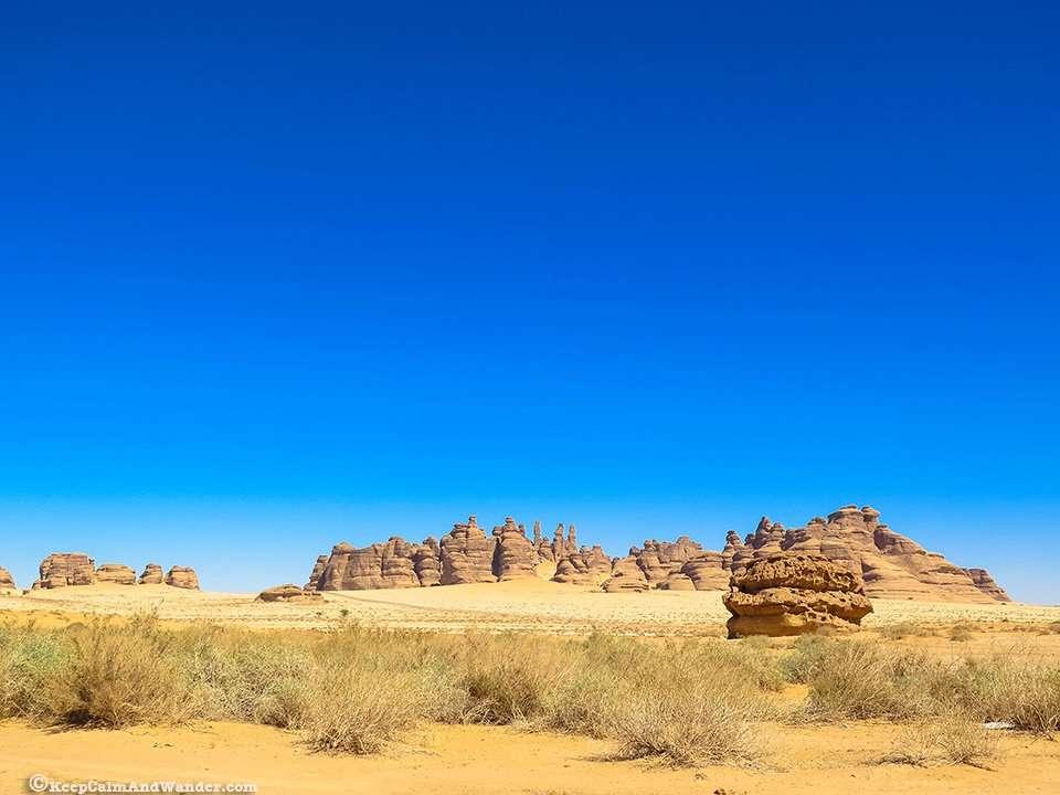 Athleb Mountain at Madain Saleh in Saudi Arabia.