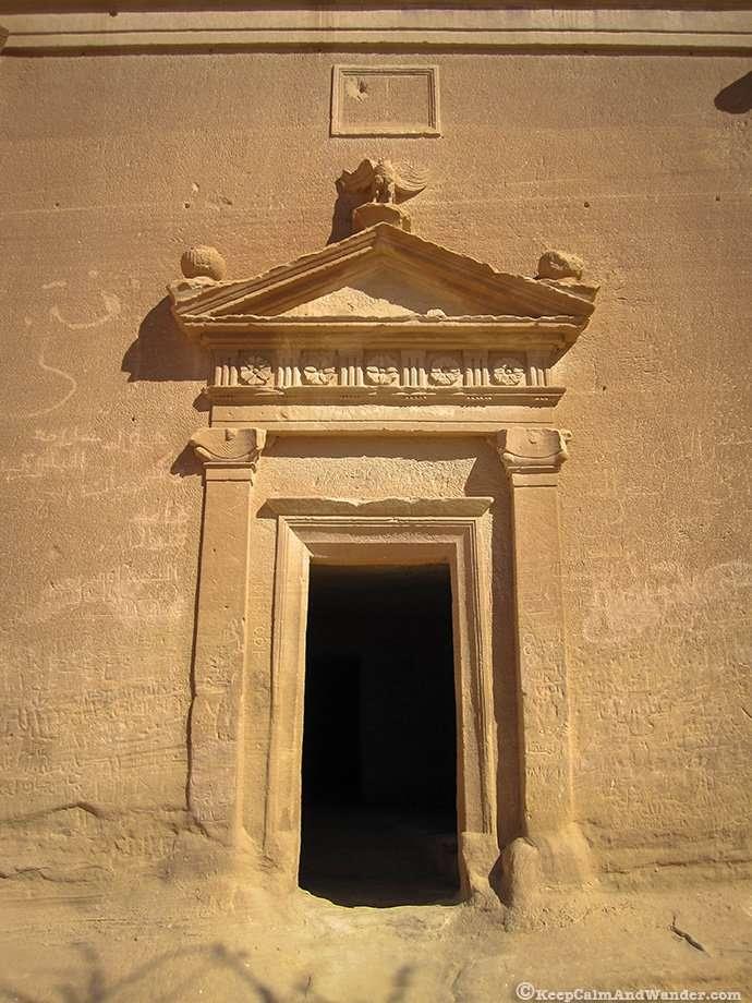 Qasr AlBint has the largest tomb facade at Madain Saleh (Saudi Arabia).