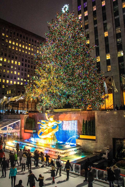 Christmas Tree in Rockefeller Center.