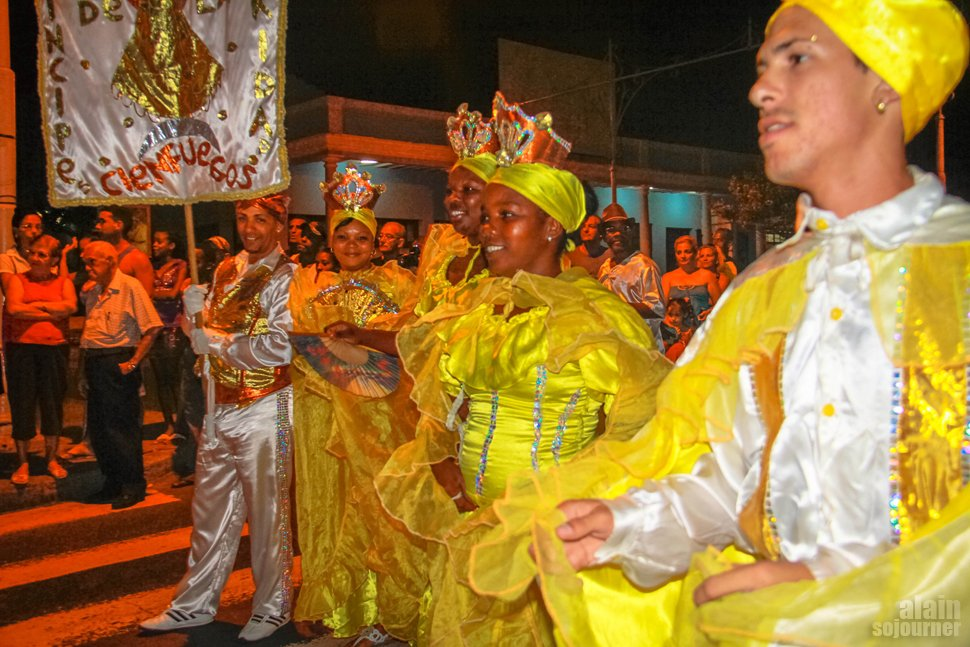 A street dancing parade on the night I was there. I think it's related to Santeria.