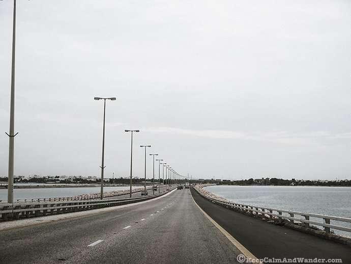 King Fahd Causeway - the bridge that links Saudi Arabia and bahrain.