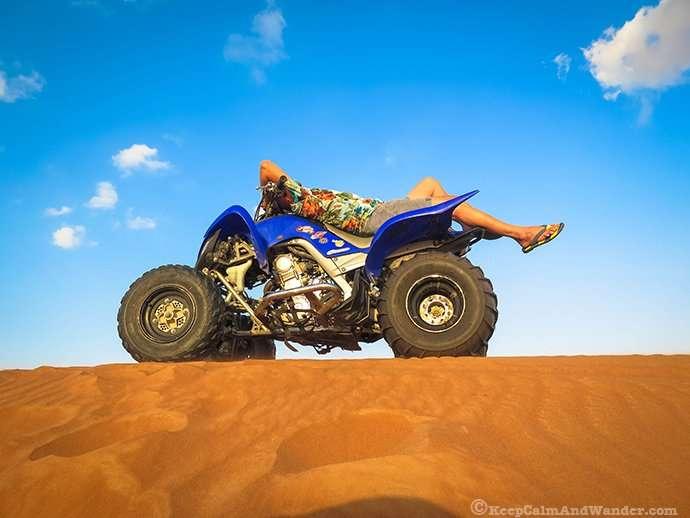 Froclicking in Al Ain Desert, UAE.