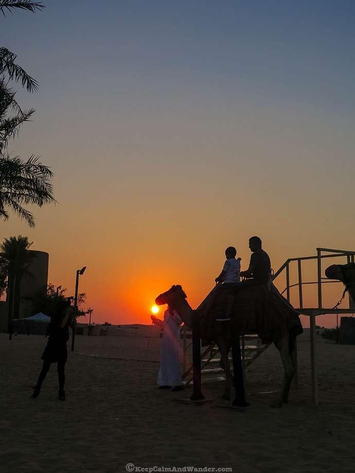 Sunset in the Desert (Dubai, United Arab Emirates).