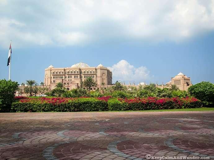 The Emirates Palace in Abu Dhabi, UAE.