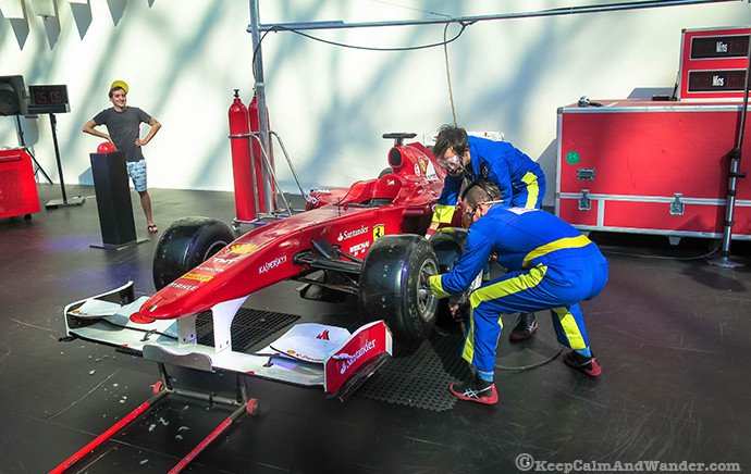 Tyre Change Experience Show / Things to do at Ferrari World in Abu Dhabi.