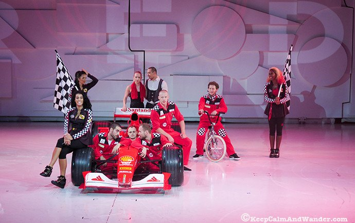 Watch the show at RED. / Things to do at Ferrari World in Abu Dhabi.