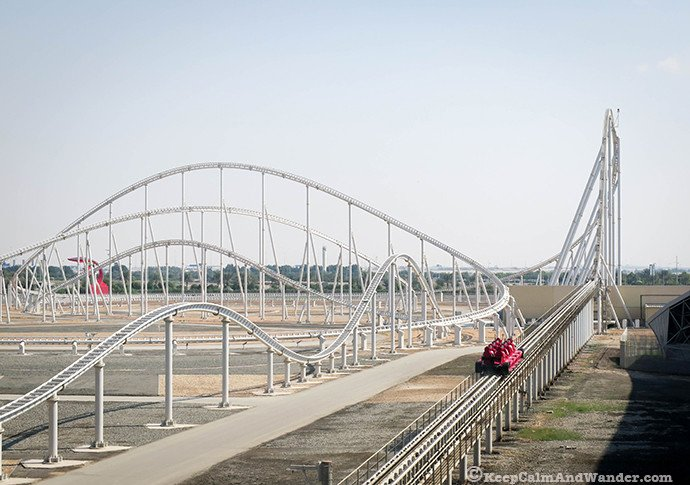 vFormula Rossa is the world's fastest rollercoaster at Ferrari World, Yas sland, Abu Dhabi.