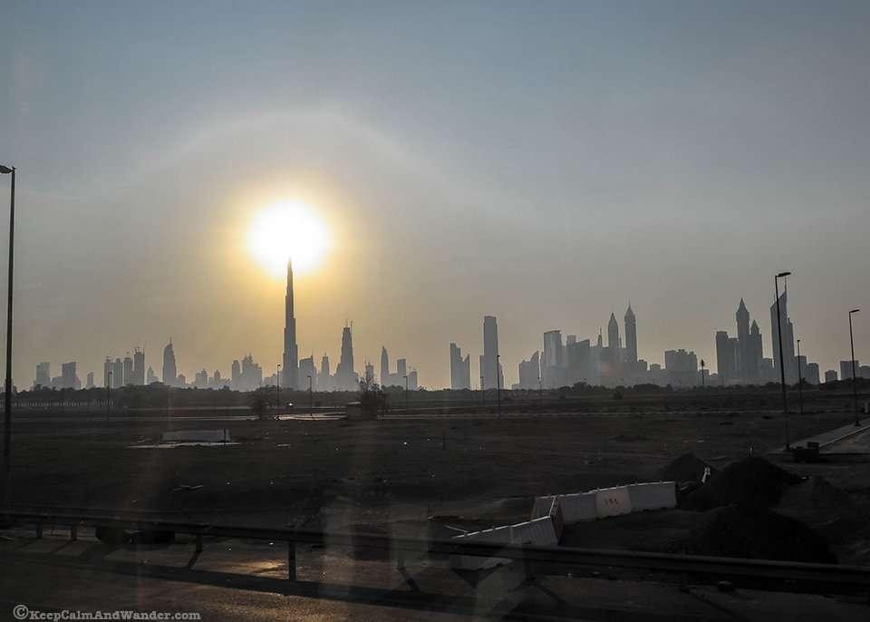 Sunset in Dubai / Dubai Skyline