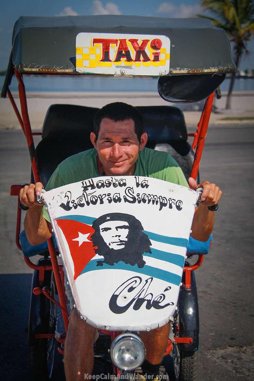 Portrait of Cuban Taxi Driver in Cienfuegos.
