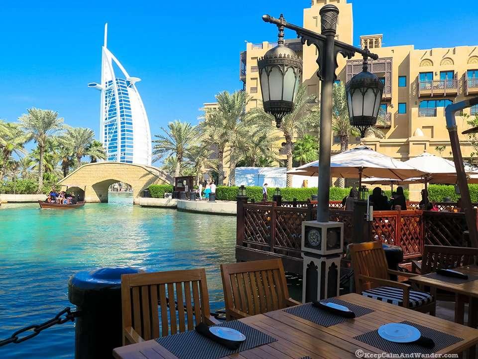 Souk Madinat Dubai is designed like a little Arabian town.