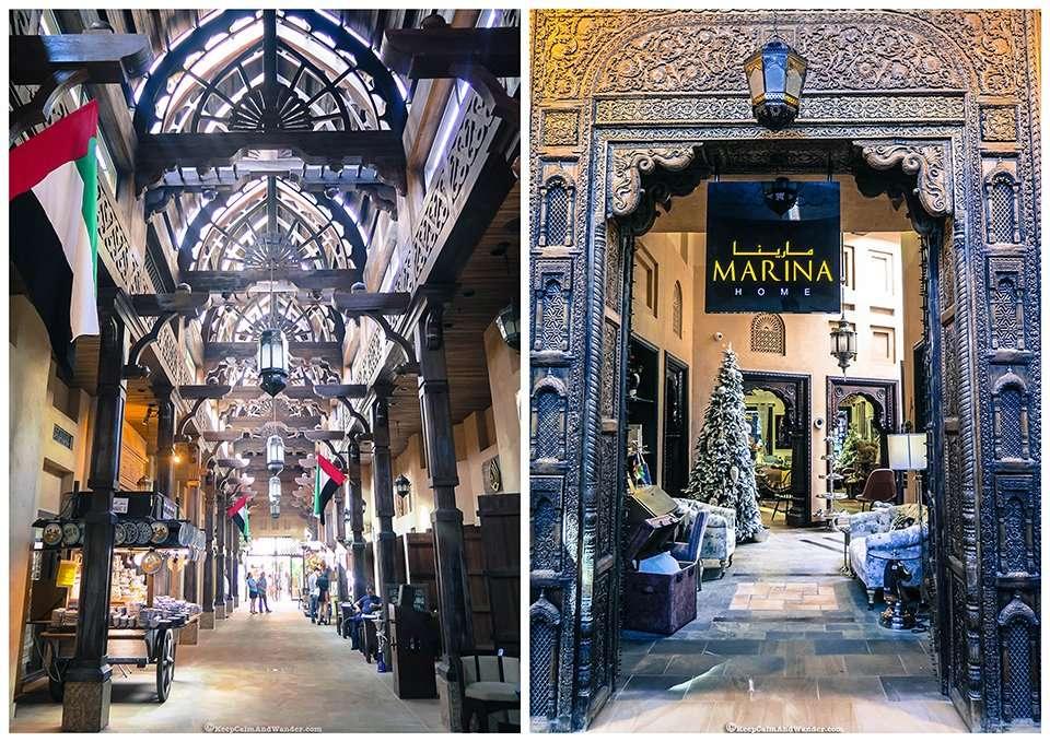 Souk Madinat in Dubai is designed like a little Arabian town.