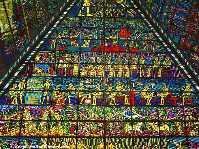 Mosaics at Wafi Mall in Dubai.