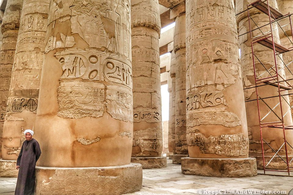 The Guards Karnak Temple in Luxor (Egypt)