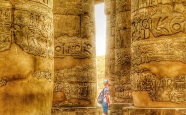 Karnak Temple Luxor Papyrus Columns Egypt 4