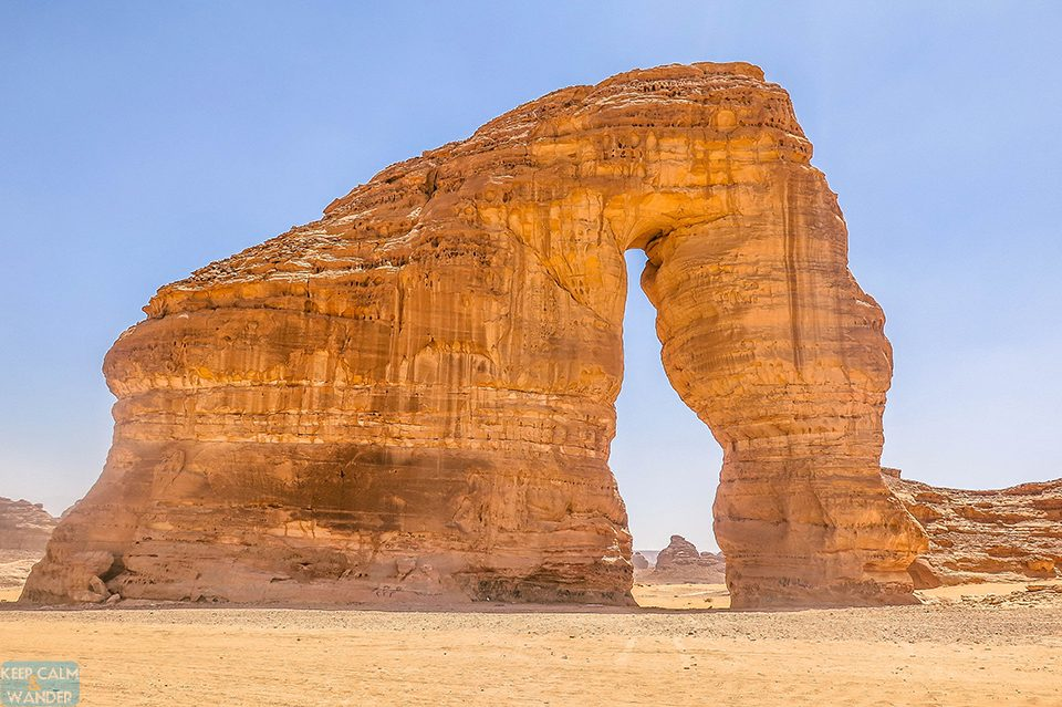 The Elephant Rock at Al Ula, Saudi Arabia.
