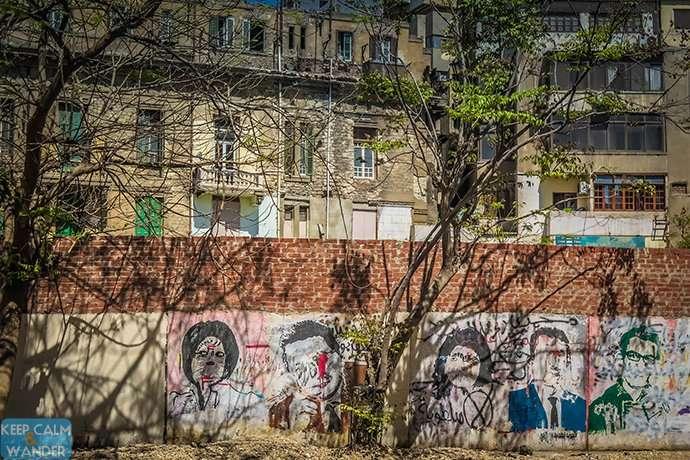 Cairo Graffiti - Windows to a Troubled Egypt (around Tahrir Square).
