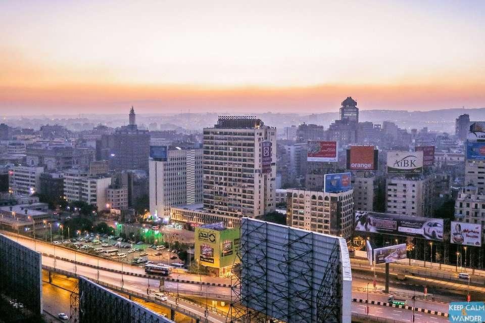 Cairo's Skyline from Hilton Ramesis Hotel.