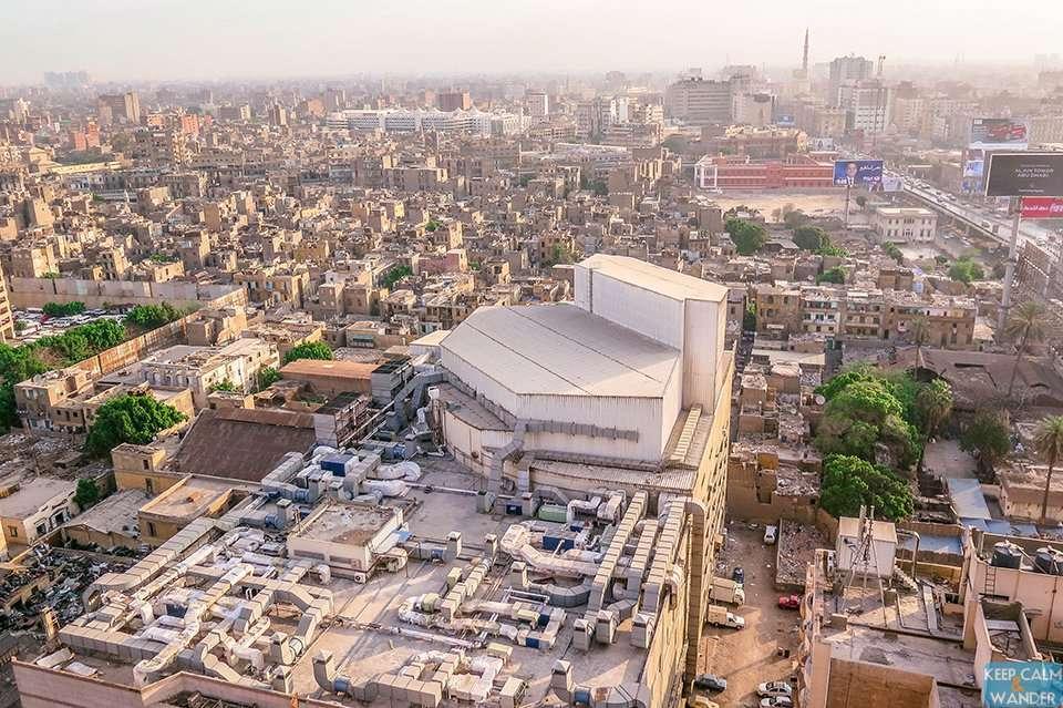 View Cairo Skyline from Hilton Ramesis Hotel.