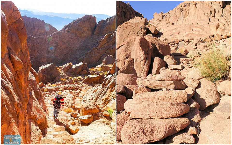 Steps of Repentance in Mt. Sinai.