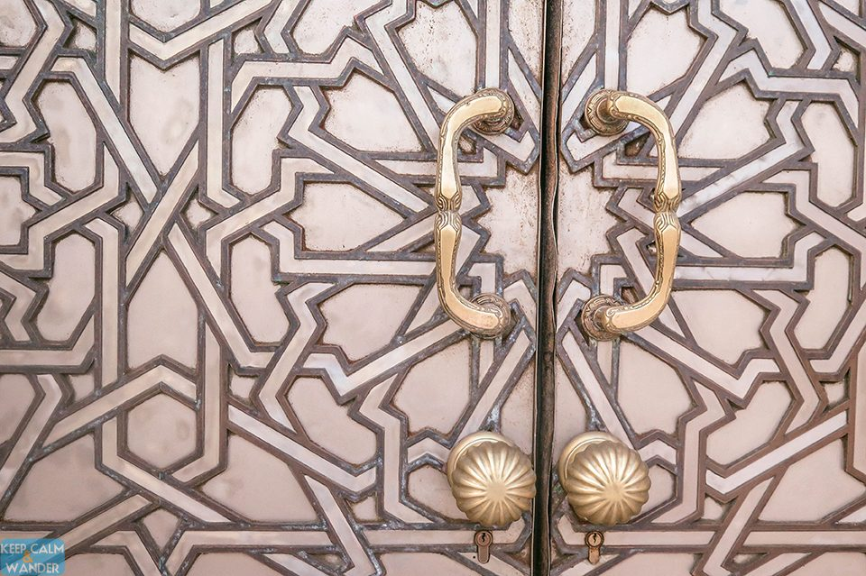 The door at Hassan II Mosque - Casablanca's Famous Landmark.