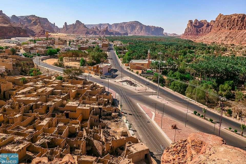 The Mud Brick Houses of the Old Town of Al Ula in Saudi Arabia.