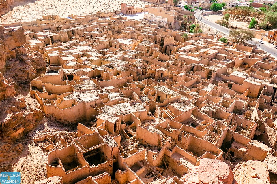 The Mud Brick Houses of the ancient Town of Al Ulah in Saudi Arabia.