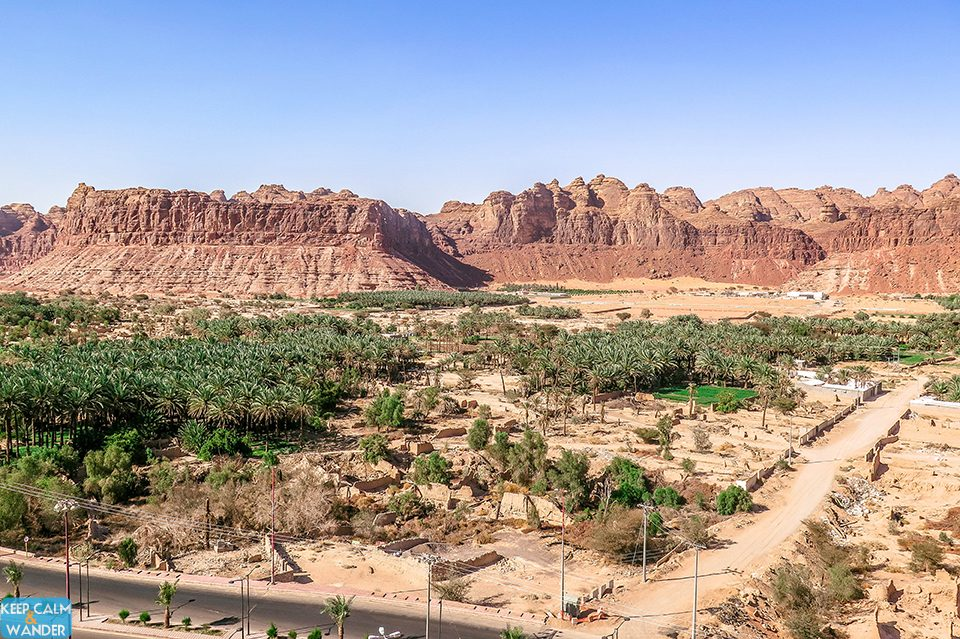 View of Al Ula from the Ancient Tower.