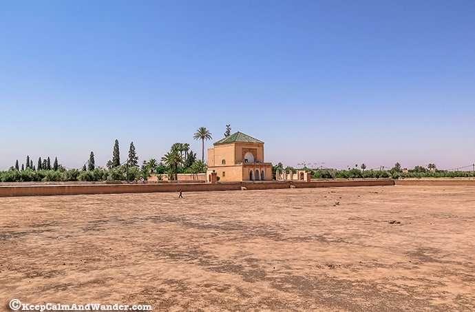 Menara Garden in Marrakech, Morocco.