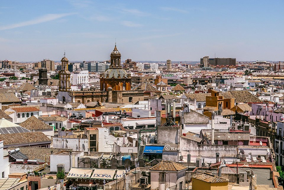 The City of Sevilla - View from La Giralda (Spain)