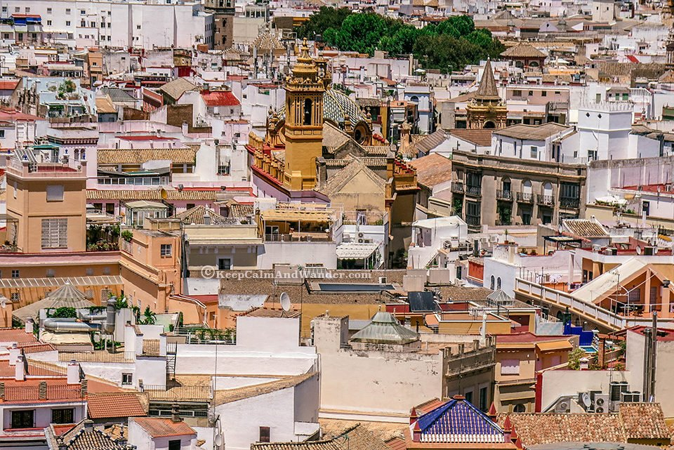 The City of Sevilla - View from La Giralda (Spain).