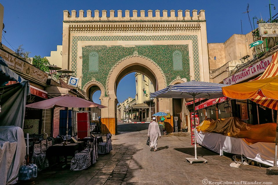 Bab Boujloud - The Gateway to the Medina in Fes.