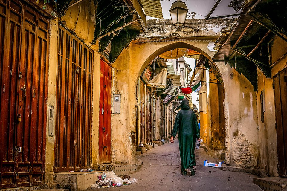 An early walk at Fes medina in Morocco.