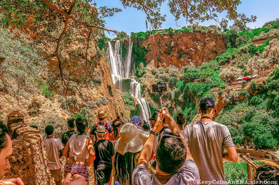Ouzoud Falls is a three-hour drive from Marrakech, Morocco.