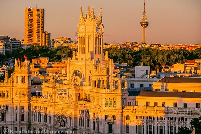 Madrid Sunset from Terrazas Circulo Las Bellas Artes.