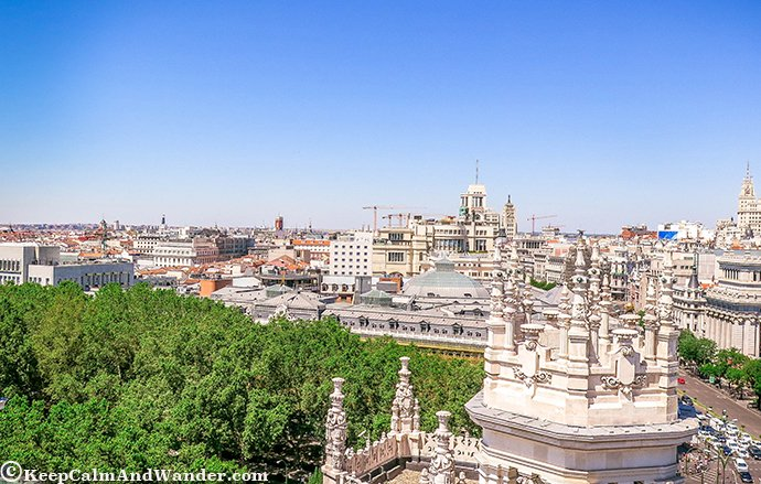 The Inside and Outside Beauty of Cibeles Palace )Madrid, Spain).
