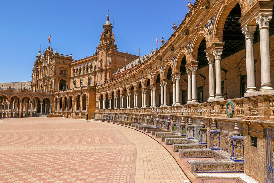 Plaza de España in Sevilla is the most beautiful square in Spain.