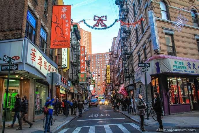 Chinatown in New York.