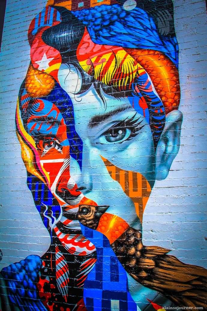 Audrey Hepburn Mural / Little Italy in New York.