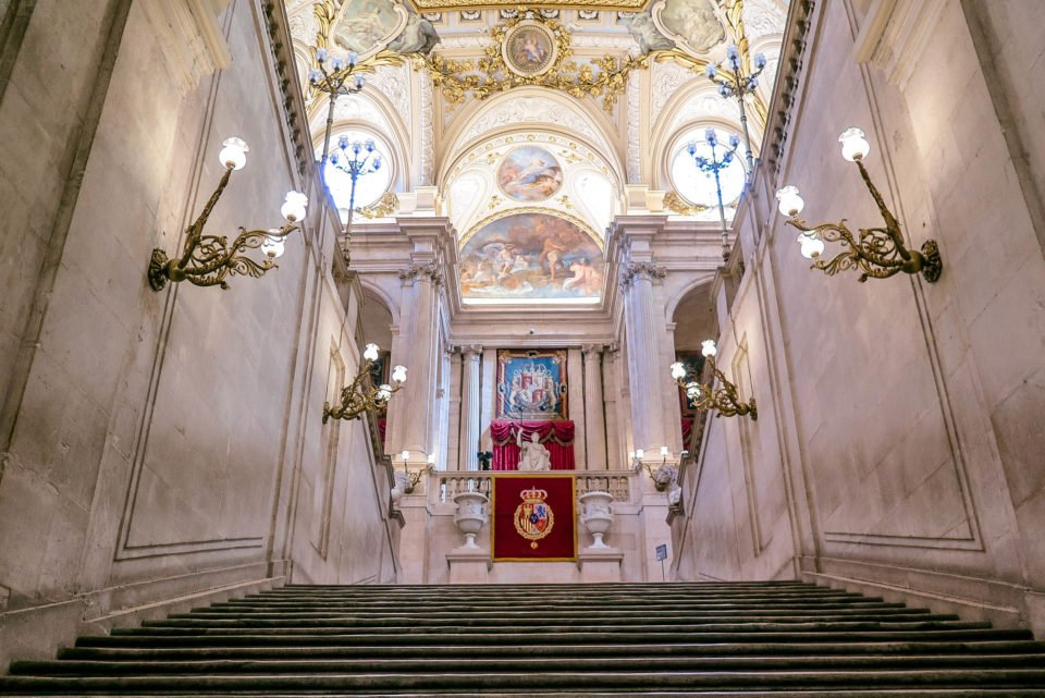 The Grand Staircase at Palacio Real (Royal Palace Madrid.