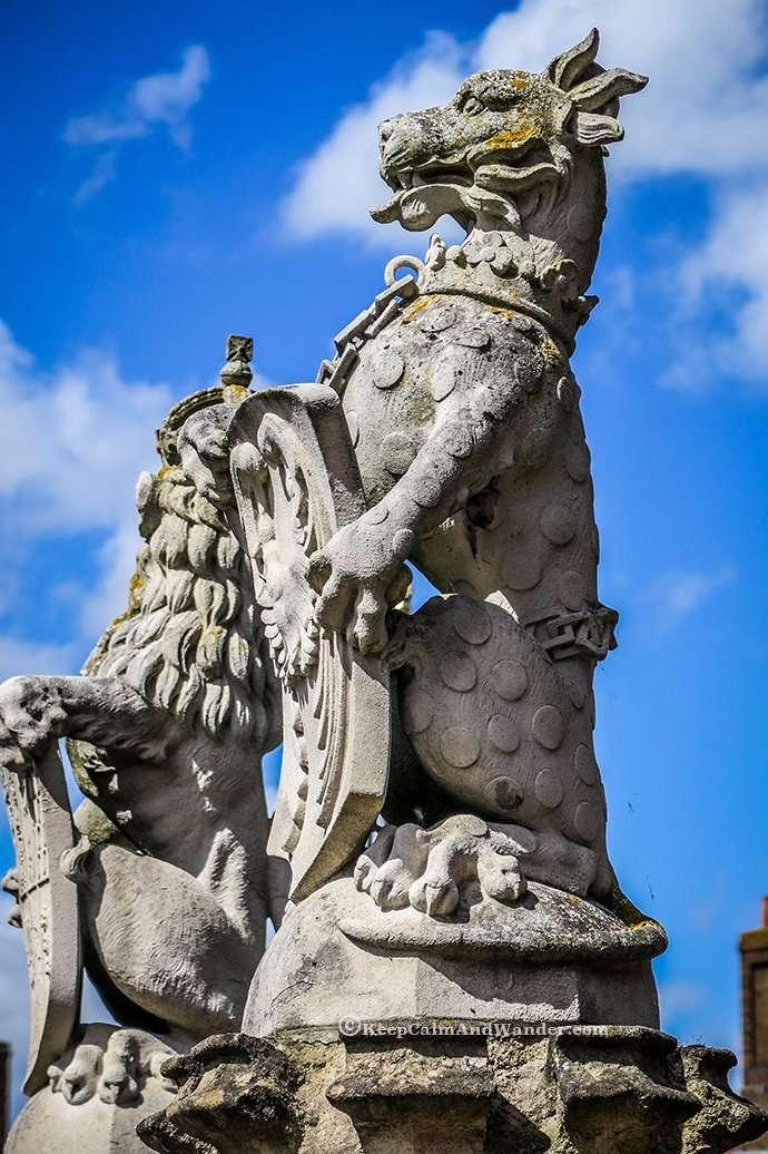 The King's Beast at Hampton Palace.